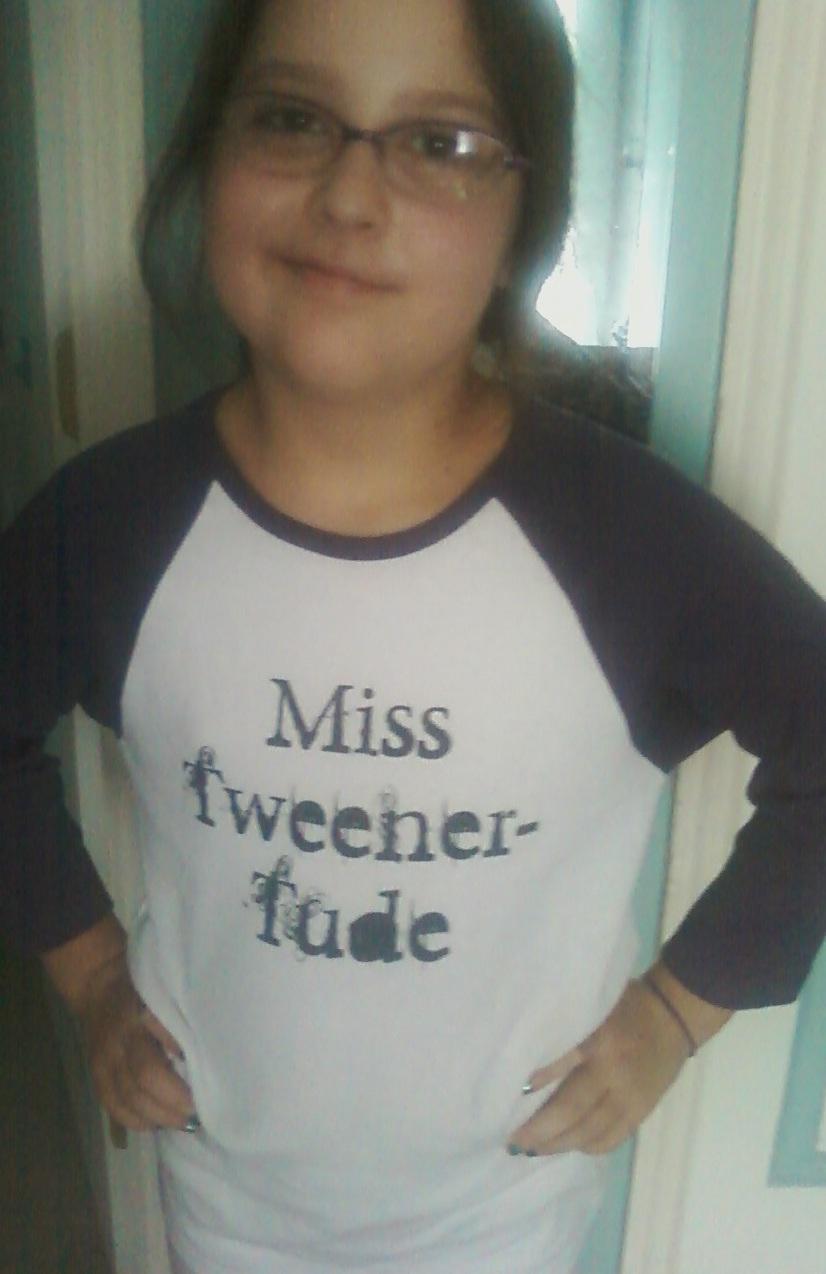 miss tweener tude in her new shirt http www zazzle com miss tweener ...